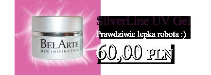 Żele UV BelArte silver Line
